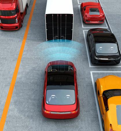 構想道路の渋滞で起動する自動ブレーキ