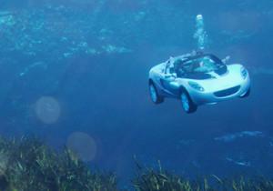 潜水する車